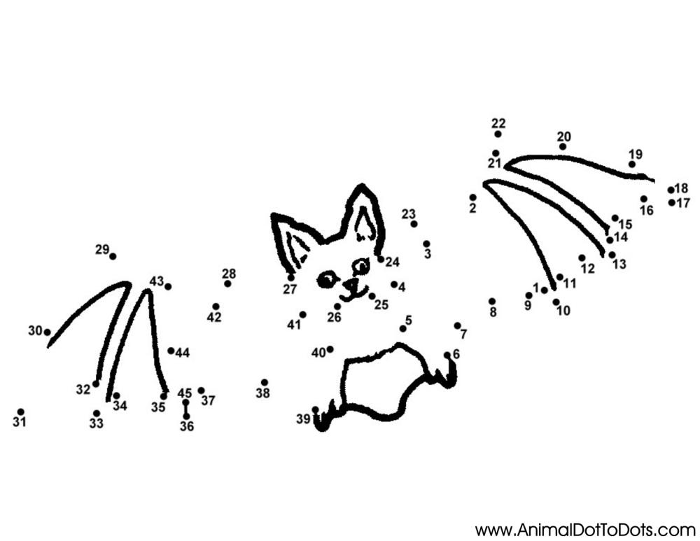 Easy Free Printable Animal Dot-to-dot Worksheets